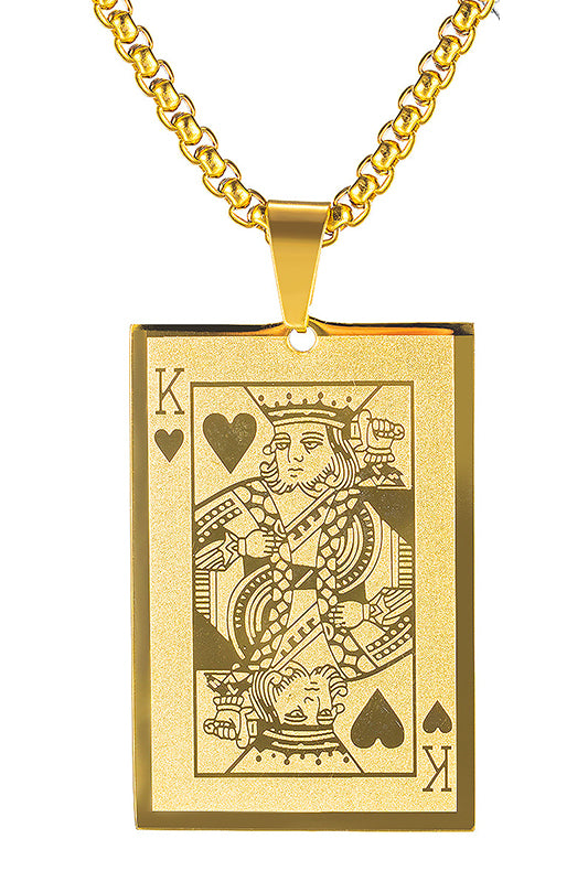 King of Hearts Pendant Necklace
