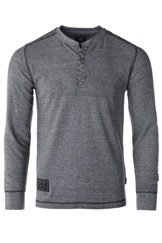 Lightweight Waffle Thermal Long Sleeve Henley