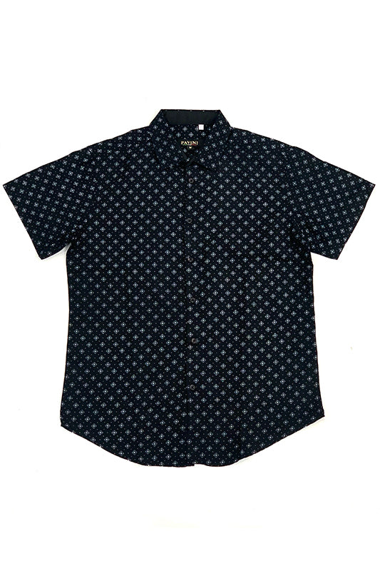 Polka Dot Short Sleeve Button Up