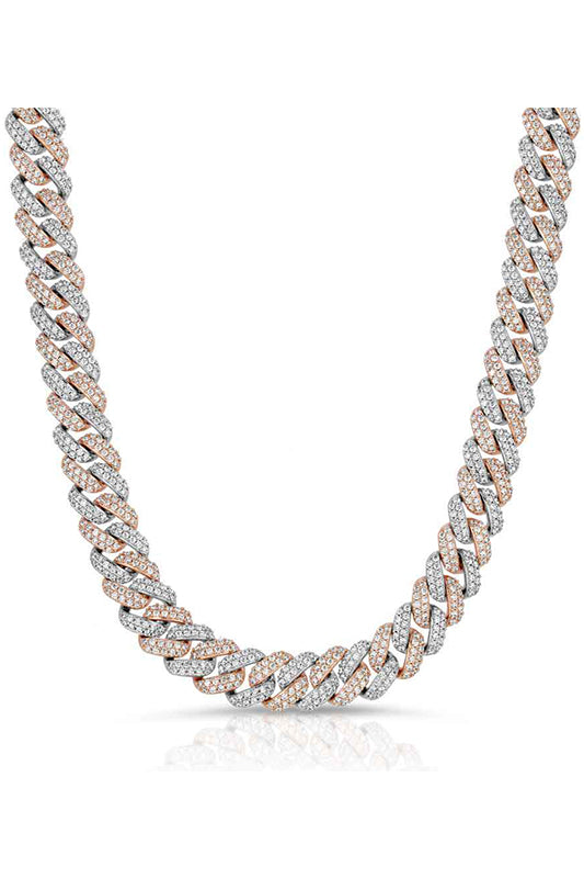 Two Tone Cuban Chain Necklace
