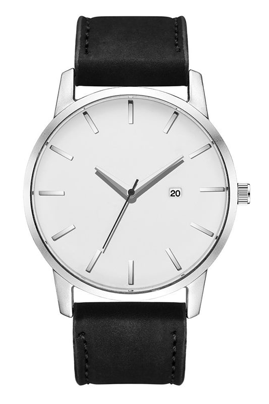 Large Face Matte Belt Watch