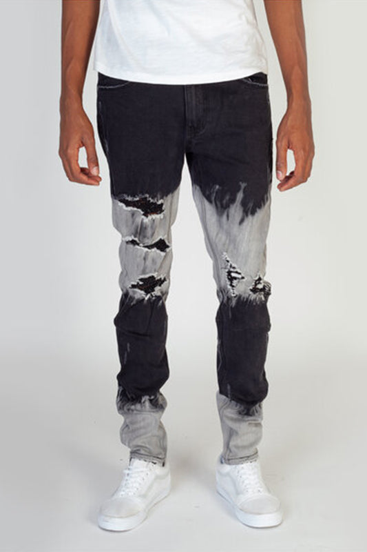 Ombre Bleached Jeans