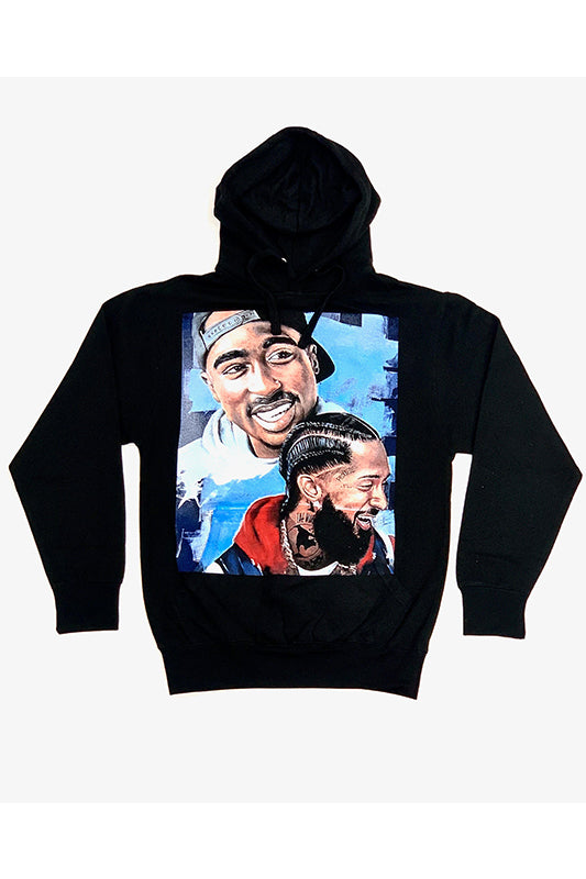 Nipsey and Tupac Smiling Graphic Hoodie