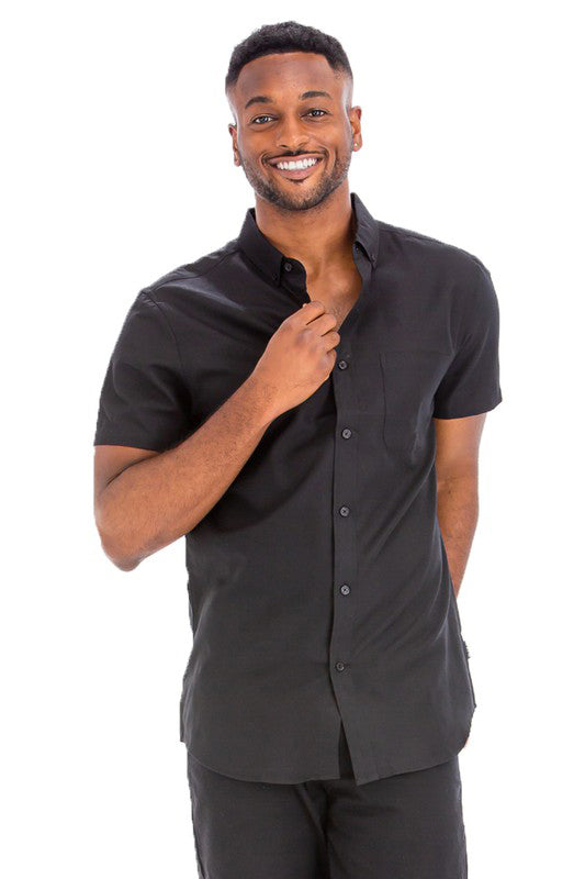 Short Sleeve Button Down with Pocket