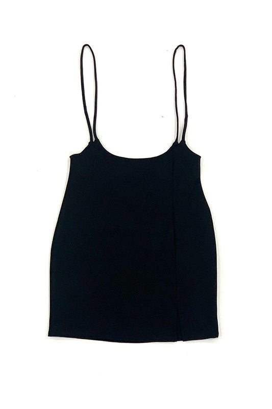 Solid Ponti Overall Dress