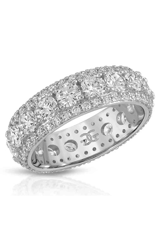 Diamond King Ring White Gold