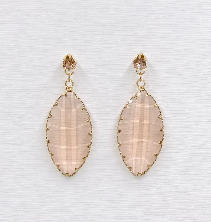 Pointed Oval Drop Earrings