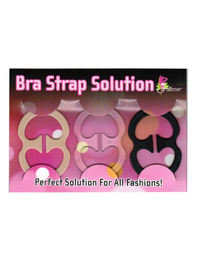 The Bra Strap Solution 3 Piece Set Front packaging