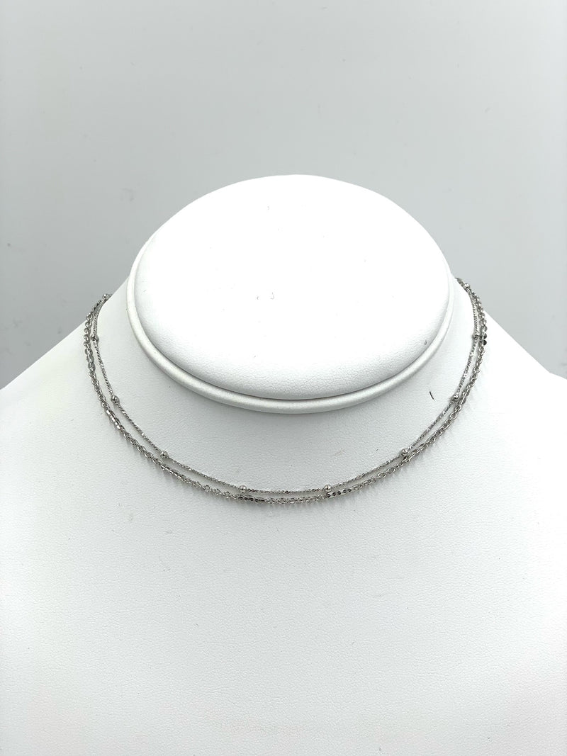 Layer Chain Choker Necklace