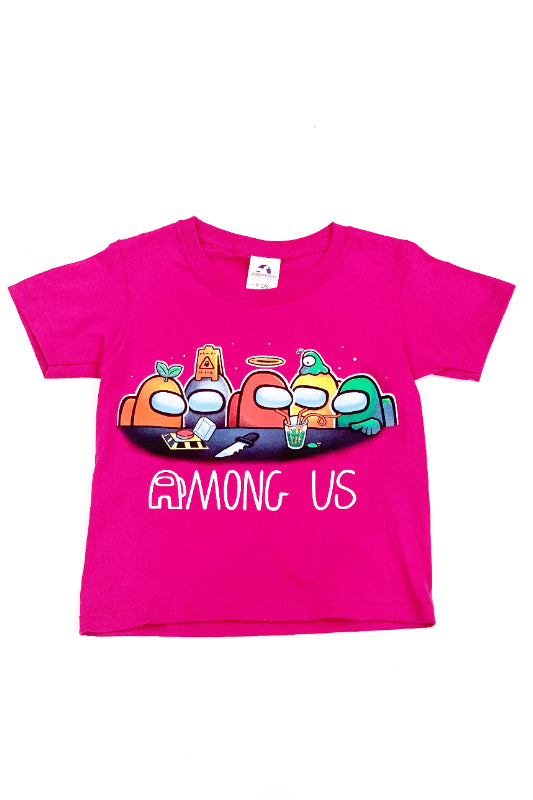 Among Us Graphic T-Shirt Hot Pink