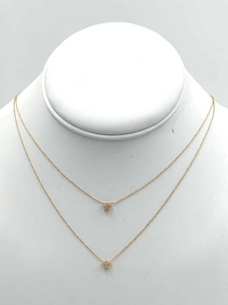 Double Star Layer Necklace