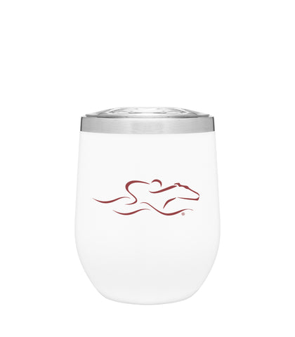 Sensational 12 Oz Wine Tumbler - White Matte