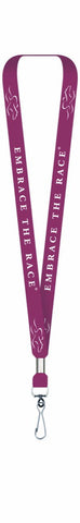 EMBRACE THE RACE® Lanyard Ticket Holder - Cardinal