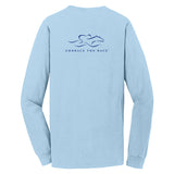 Classic Long Sleeve Pocket T - Sky Blue