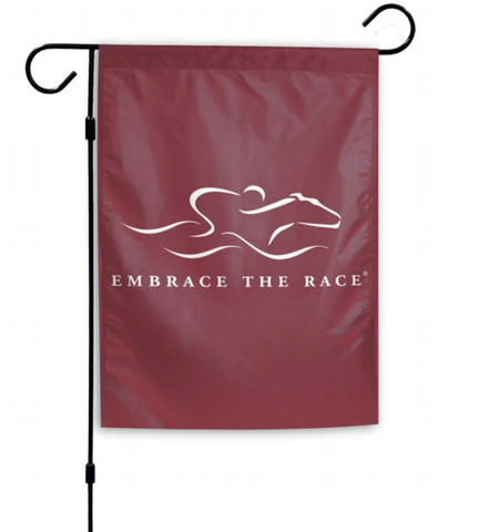 Signature EMBRACE THE RACE® Horse Racing Garden Flag