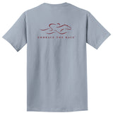 Garment Dyed Short Sleeve Logo T Shirt - Dove Gray