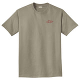 Garment Dyed Short Sleeve Logo T Shirt - Taupe
