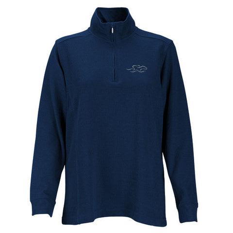 Womens Harbor Rib Qtr Zip Sweater - Navy