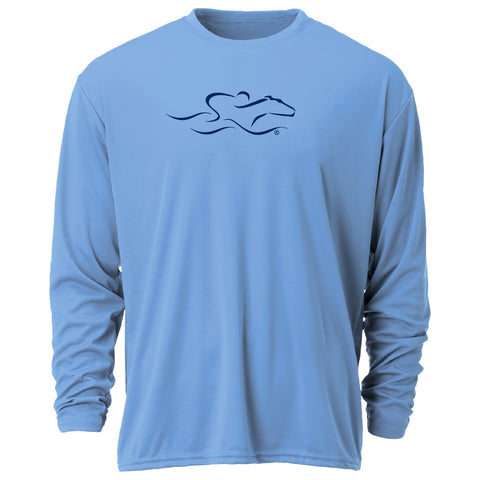 Performance Long Sleeve Tee-Light Blue