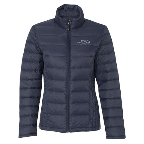 Womens Packable Down Puffer Jacket - Navy