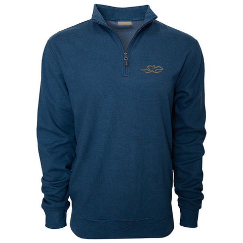 Pinstripe Perfection Pullover - Cobalt/Navy