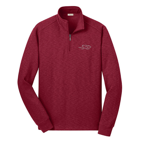 Qtr Zip Sophisticated Sweatshirt - Cardinal