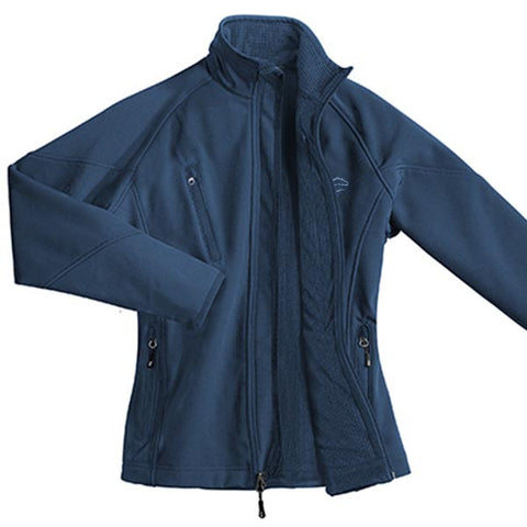 Womens Soft Shell Textured Jacket - Blue