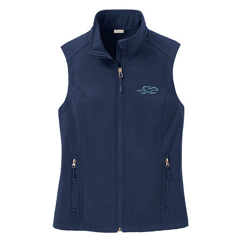Womens Versatile Soft Shell Vest - Navy