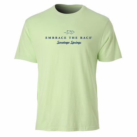Saratoga Inspired Garment Dyed Tee-Lime