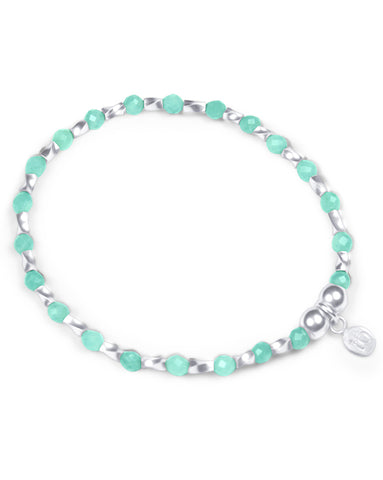 Indigo Queen Amazonite and Sterling Silver Bracelet