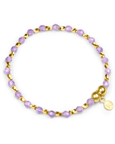 Indigo Queen Amethyst and Gold Vermeil Bracelet