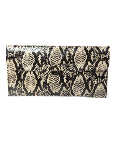 Angel Jackson Continental Clutch in Dove Snakeskin