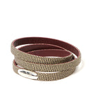 Antonio Ben Chimol Nibiru Luxury Leather Bracelet In Brown And Burgundy