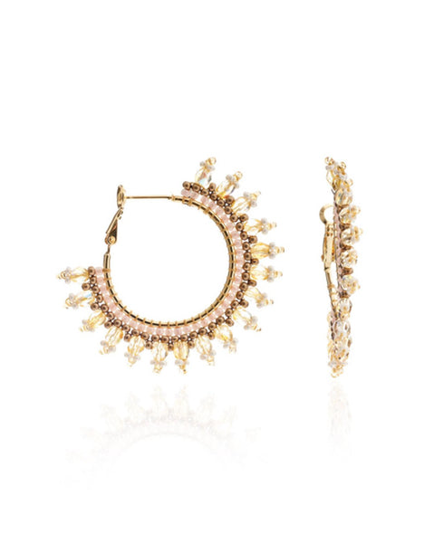 Azuni Meli Crystal Earrings in Savanna