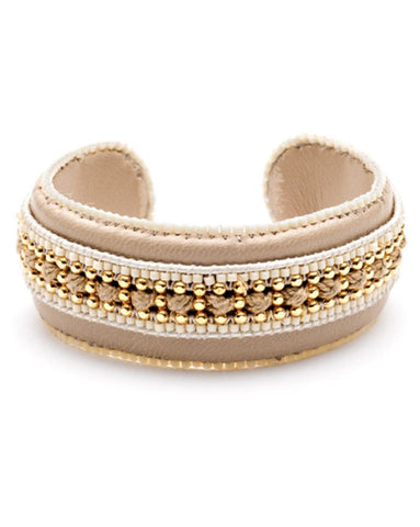 Azuni Talia Leather Bangle in Savanna
