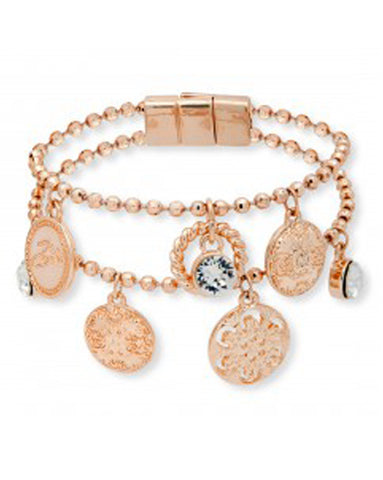 Bibi Bijoux Rose Gold Coin and Charm Bracelet