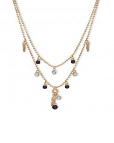 Bibi Bijoux Gold Layered Bead Necklace