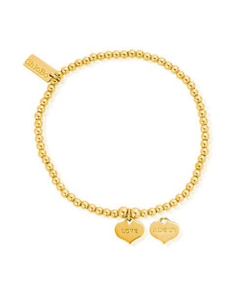 ChloBo Gold Cute Charm Love Always Bracelet
