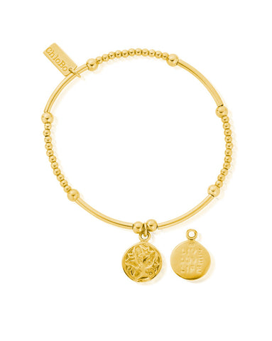 ChloBo Gold Cute Mini Live Love Life Bracelet