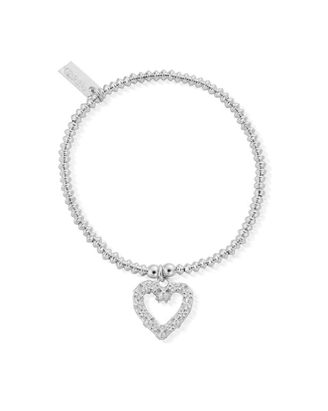 ChloBo Mini Disc Flower Heart Bracelet
