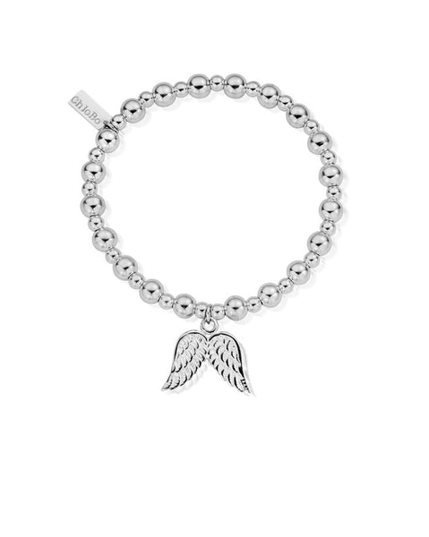 ChloBo Mini Small Ball Double Angel Wing Bracelet