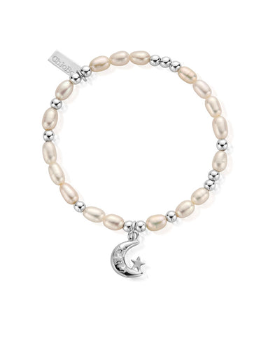 ChloBo Pearl Mini Moon and Stars Bracelet