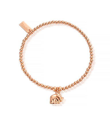 ChloBo Rose Gold Cute Charm Elephant Bracelet