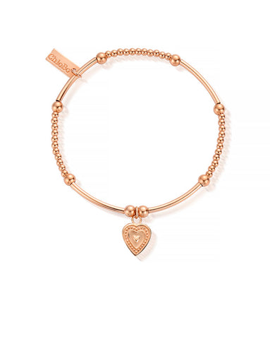 ChloBo Rose Gold Cute Mini Decorated Heart Bracelet