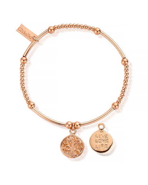 ChloBo Rose Gold Cute Mini Live Love Life Bracelet