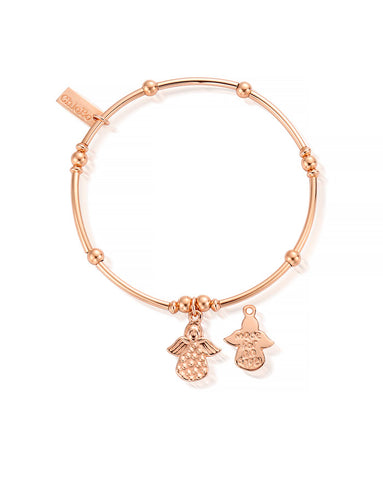 ChloBo Rose Gold Mini Noodle Made For an Angel Bracelet