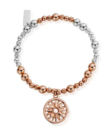 ChloBo Rose and Silver Sun Mandala Bracelet