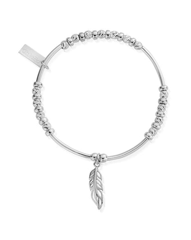 ChloBo Sparkle Filigree Feather Bracelet