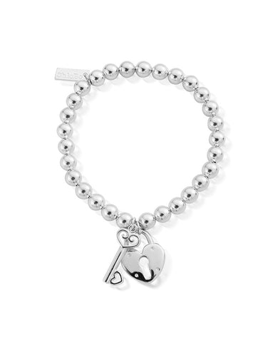 ChloBo Small Ball Lock & Key Bracelet