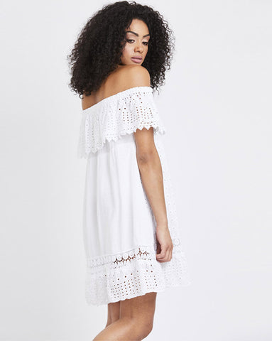 Cleo White Crochet Sundress